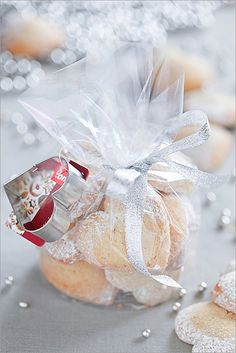 Cute idea for a gift ~ Bake some and wrap and include recipe on the back of a pretty tag!