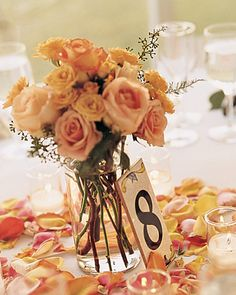 House numbers at table numbers