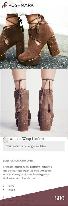 d7c0c28597b5 Free People Constantine Wrap Platform Seventies-inspired suede platforms  featuring a lace-up wrap