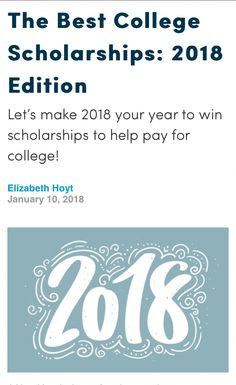 Check out this awesome #scholarship round up! https://www.fastweb.com/college-scholarships/articles/the-best-college-scholarships-2018-edition