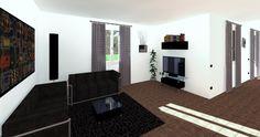 TOTAL RENDERING di fabbricato bifamiliare di prossima realizzazione - vista interna soggiorno