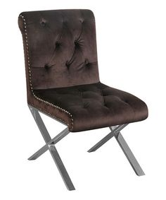 chocolate velvet claire dining chair set of