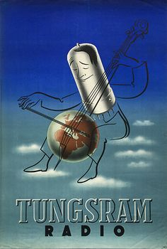 Tungsram ~ Tihamér Csemiczky Madison Avenue, Tool Design, Alter, Advertising, Graphic Design, Bulbs, Movie Posters, Audio, Graphics