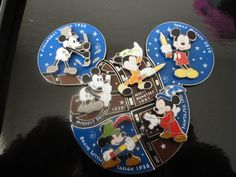 Be Jealous (; They just came today from my Disney sister Stephanie! Steamboat Willie: 1928 Mickey's Follies: 1929 Brave Little Tailor: 1938 Fantasia: 1940 SORCERER MICKEY! Disney Trading Pins, Disney Pins, Disney Stuff, Walt Disney Parks, Disney World Florida, Mickey Mouse Pins, Disney Starbucks, Steamboat Willie, Disney Pixar Movies