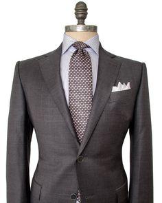 Charcoal Plaid Suit #Menssuits
