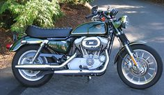 Great British style on a rubber mount sportster.