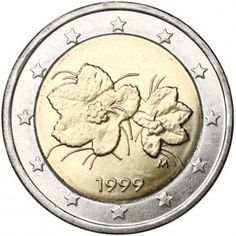 Suomi 1999 2 € UNC Euro Coins, World Coins, Coin Collecting, Bronze, Stamp, Money, Collection, Coins, Finland