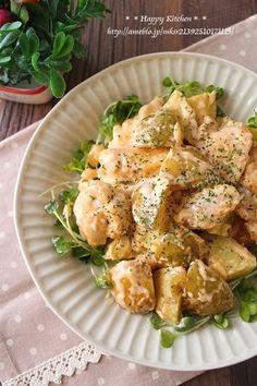 鶏むね肉とじゃがいものタルタル風マヨソース和え | たっきーママ オフィシャルブログ「たっきーママ@Happy Kitchen」Powered by Ameba