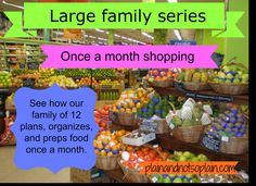 once a month shopping for large family series part 1 planning Family Meal Planning, Budget Meal Planning, Cooking For A Crowd, Cooking On A Budget, Freezer Cooking, Cooking Food, Freezer Meals, Inexpensive Meals, Cheap Dinners