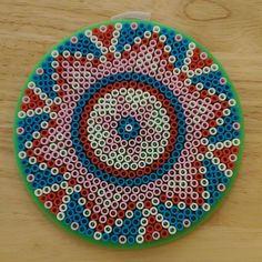 Mandala perler beads by  knitsandperls