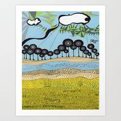 id escaped Art Print by Trevor Bittinger - $20.00