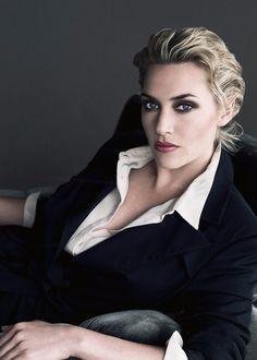 kate winslet. slightly sexy corporate. Find your portrait inspirations at Monica Hahn Photography