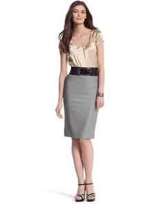 Now we got it going on...      TWILL PENCIL SKIRT  STYLE: 570039262  SHOPDETAILS  $88.00    ColorSizeQty  	 	   select more at a time    locate in store  view size chart  e-mail to a friend    MORE FASHION FAVORITES