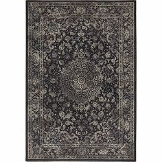 Ultramodern yet traditional patterned 'Black Antares' rug Contemporary Furniture, Furniture Design, Traditional, Rugs, Black, Home Decor, Farmhouse Rugs, Decoration Home, Black People