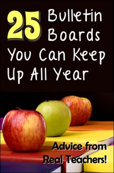Advice from Real Teachers Series Even if you love creating bulletin boards, chances are good that you don't have time to dream up a new bulletin board every month for all of the boards in your room. W