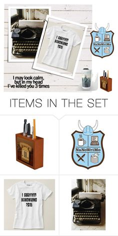 """""""Nanowrimo 2015"""" by stine1online ❤ liked on Polyvore featuring art"""