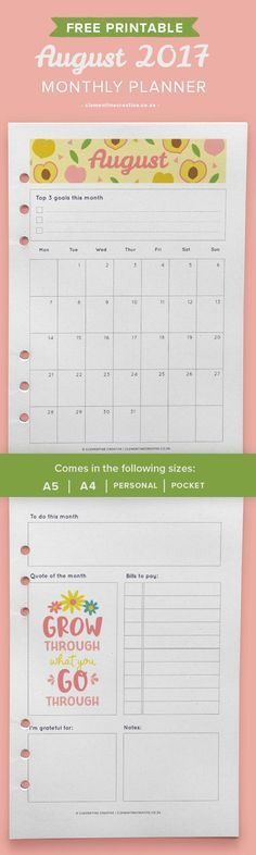 Undated Printable Monthly Planner - Mint w  Cover, Sun-Mon Start - printable monthly planner