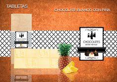 Tableta de chocolate blanco 29% de cacao con el mejor sabor de de la selecta piña tropical. Un producto elaborado a mano. Sin gluten.  www.chocolatesierranevada.com