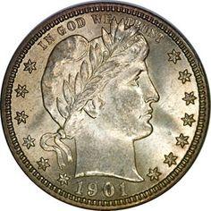 Barber Quarters - 1901 O 25C MS