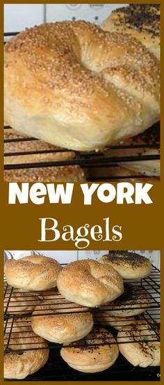 Jun 2019 - Homemade Fresh Bagels - Great instructions and recipe for how to get your bagels perfect! What toppings would you choose? Sweet or Savory? Bread Machine Recipes, Bread Recipes, Baking Recipes, Breakfast Recipes, Savory Breakfast, Breakfast Dessert, New York Bagel, Homemade Bagels, Homemade Biscuits