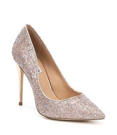 Prom Shoes Silver, Glitter Pumps, Beautiful Shoes, Clothing Accessories, Dillards, Steve Madden, High Heels, Footwear, Rompers