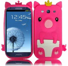 Buy niceeshop Hot Pink 3D Happy Crown Pig Soft Silicone Gel Case Cover for Samsung Galaxy S3 III i9300 NEW for 5.99 USD   Reusell