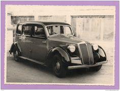 Foto su cartoncino Taxi d'epoca tipo Roma (1940-1943)