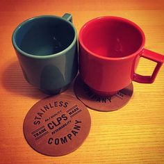 We can't get enough of our leather coasters!