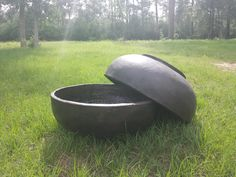 """Lightweight Bowls Large 38""""W x 14.5""""H 16 lbs. Item # 2037  Small Bowl   32""""W x 11.5""""H 8 lbs. Item # 2036  Custom Colors Available Bowls Shown In Antique Espresso"""