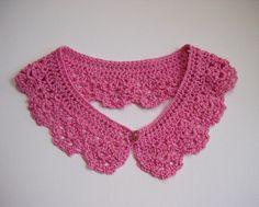 Pink Collar in a Detachable Lace Crocheted Peter Pan door Corcra, €15,00