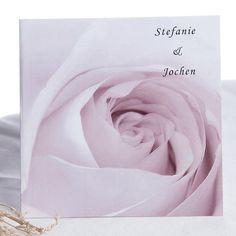 romantische druck-karten zur hochzeit mit rose