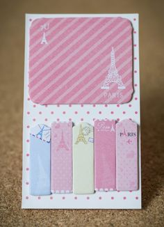 Sticky notes paris travel planner supplies