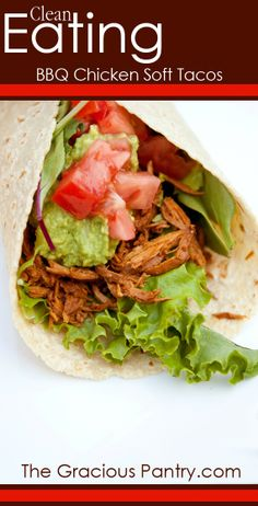 Barbecue Chicken Soft Tacos
