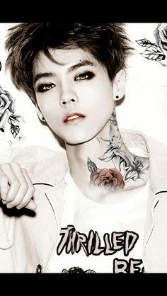 Exo Sehun Neck Tattoo