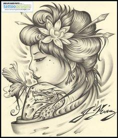 Geisha Tattoo Designs | Geisha Tattoo By Jksart Image Tattooing Designs - Free Download Tattoo ...