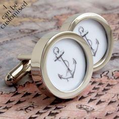 Vintage Anchor Cufflinks Nautical and Seaworthy