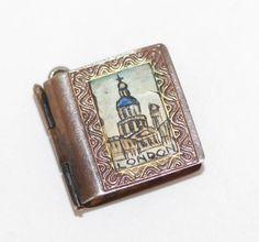 RARE Vtg Opening London Souvenir Photo Book Sterling Silver 925 Enamel Charm #Unbranded #Charm