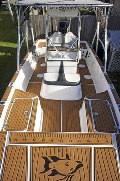 SeaDek on the Baykat 2 Teak, Boat Carpet, Sailboat Yacht, Row Row Your Boat, Boat Restoration, Aluminum Boat, Jon Boat, Fishing Supplies, Wood Boats
