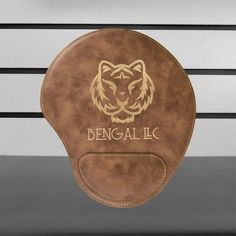 Items similar to Personalized Mousepad, Personalized Brown Marble Faux Leather Mouse Pad, Custom Engraved Leather Mousepad on Etsy