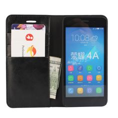 Deluxe Wallet Case For Huawei Y6 Genuine Cow Leather Case Huawei Y6 Flip Cover Phone Bags