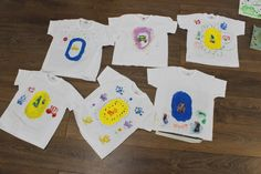 Children painted their own T-shirts at 3 House Club (London), using screen-printing paints and fabric markers, chosen stencils and stamps  (Tutorial example: https://www.pinterest.com/pin/344806915197631587/  https://www.pinterest.com/pin/344806915197631590/  (Fabric ink, markers and stamps found in store at Cass Art http://www.cassart.co.uk/craft/printing/screen_print/speedball_fabric_screenprinting_ink.htm