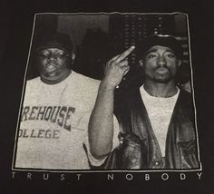 Tupac & Biggie Smalls Trust Nobody Black Medium Short Sleeve Tee T-Shirt #OriginalFlavor #GraphicTee