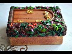 ПОЛИМЕРНАЯ ГЛИНА Декор шкатулки полимерной глиной Polymer Clay Jewelry Box