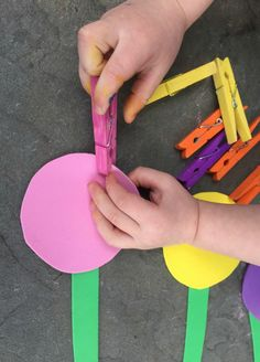 fine motor flower activity for preschoolers