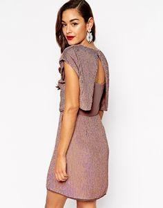 ASOS RED CARPET Iridescent Sequin Two Piece Dress