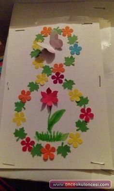 Çiçekli Kadınlar Günü Sanat Etkinliği - Önce Okul Öncesi Ekibi Forum Sitesi - Biz Bu İşi Biliyoruz- Ezgi Özkılıç Fish Crafts, Flower Crafts, Diy And Crafts, Kids Birthday Cards, Birthday Greeting Cards, Diy Classroom Decorations, Puppet Crafts, Mothers Day Crafts For Kids, Art N Craft