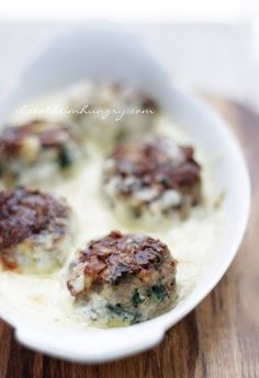#LowCarb Spinach and Artichoke Dip Meatballs Shared on https://www.facebook.com/LowCarbZen