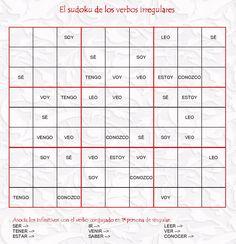 Sudoku de los verbos irregulares