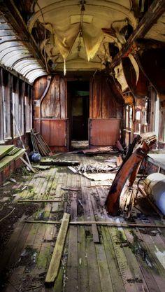 abandoned railway sleeper.