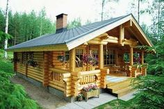 Log Cabin Kit Homes: Kozy Cabin Kits! really big idea for part time living in Alaska (summer's only. Tiny Cabins, Cabins And Cottages, Log Cabins, Amish Cabins, Cabins In The Woods, House In The Woods, Treehouse Masters, Cabin Design, Home Plans